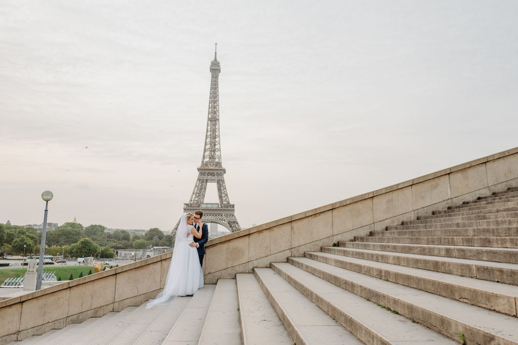 """Paris Love"" Ola and Maciek's wedding shoot"
